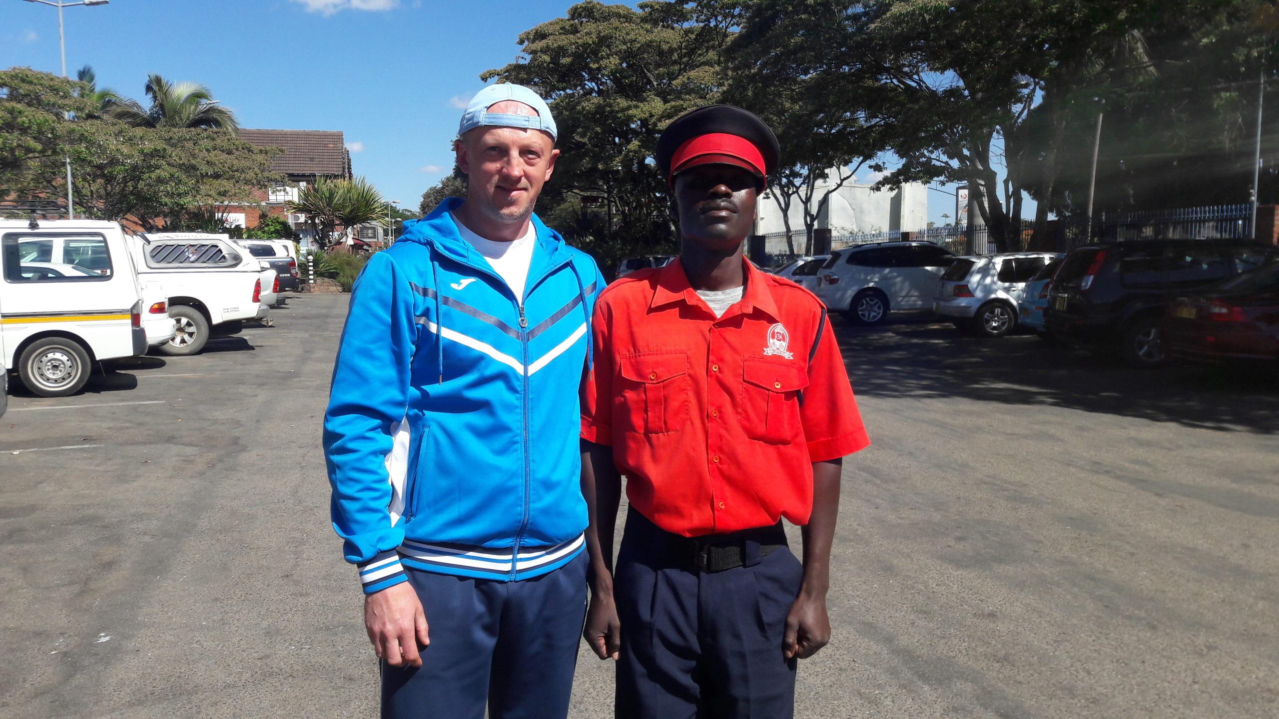 С местным полицейским