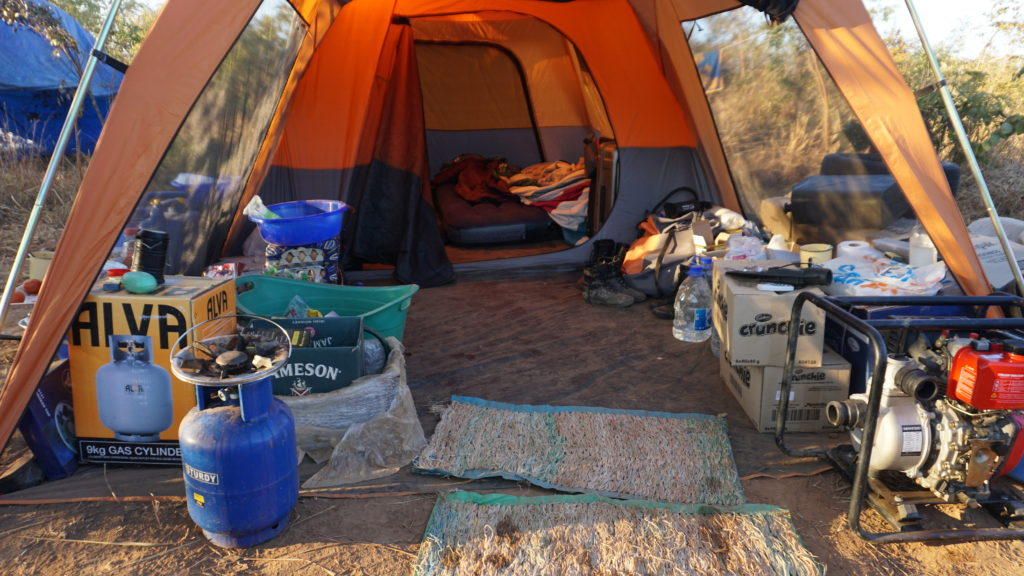 Палатка с провиантом